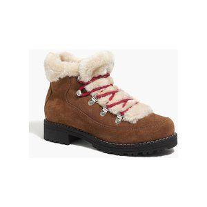J. Crew Winter Faux Fur Lace-Up Boots 7
